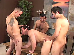 Gay Bareback Carlos, Angel, Armando and Erik