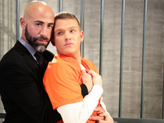 Teen heart throb twink Brandon Wilde gives big, dark, smoldering defense attorney too much attitude. Damon Andros shows Brandon who's boss as this boy kisses the blond boy hard and then has him blow his massive cock. Brandon is eager and able as this boy  mature gay