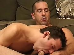 Gay couples play oral and cumshots