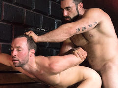Jaxton pounds his Pup mature gay