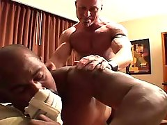 Interracial mature gays fuck each other