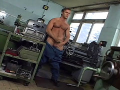 Hot worker masturbate at work and cums all over the floor