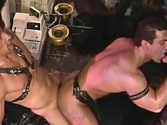 Hunks in fuck and blow orgy in bath