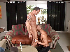 Jason Sparks is smoking the uber-sexy Steven Daigle on the couch.  Sparks' joy is positive by his cheeky grin and with such hot ass on the end of your cock it's not hard to be happy.